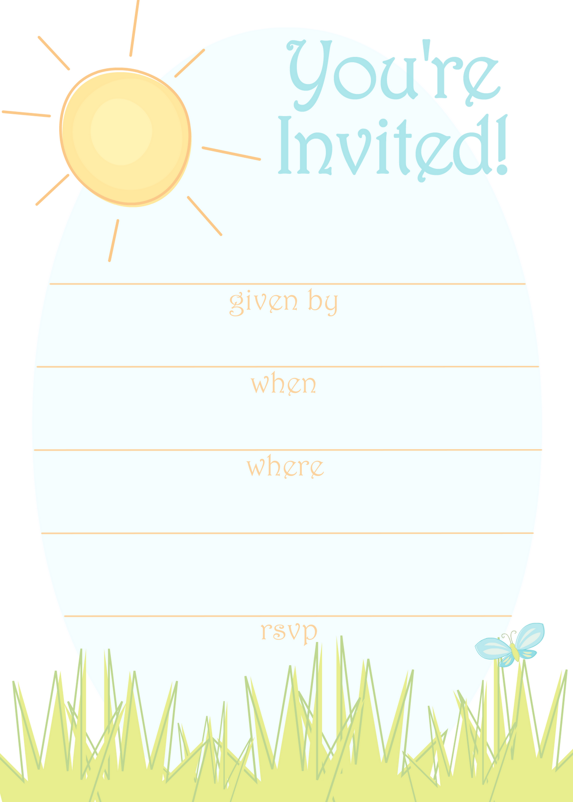 Party Invitation Printables – Free Summer Party Invitation Templates