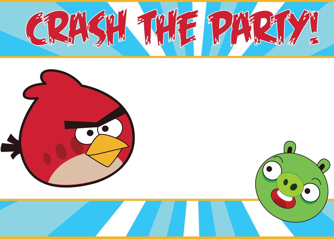 Free Printable Angry Birds Star Wars Birthday Invitations