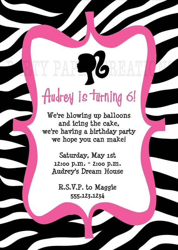 Free Printable Animal Print Birthday Invitations 2018