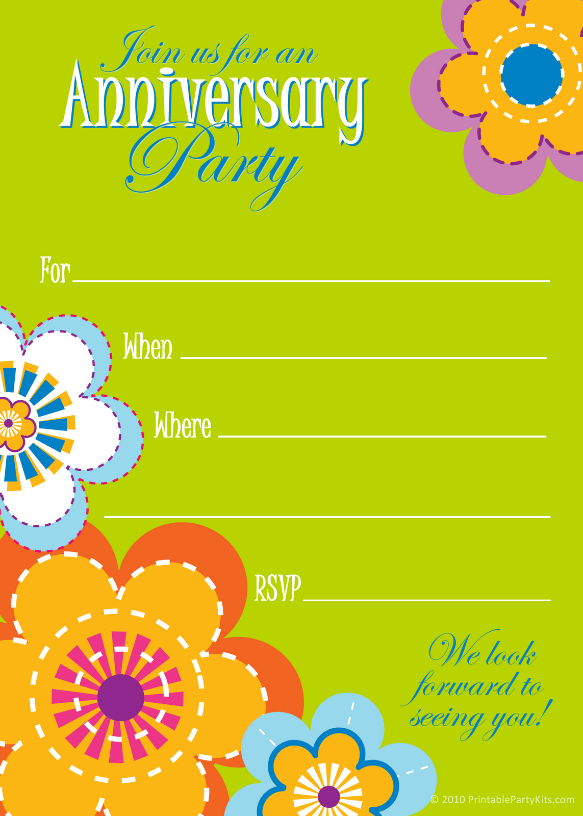 Free Printable Anniversary Invitations Templates