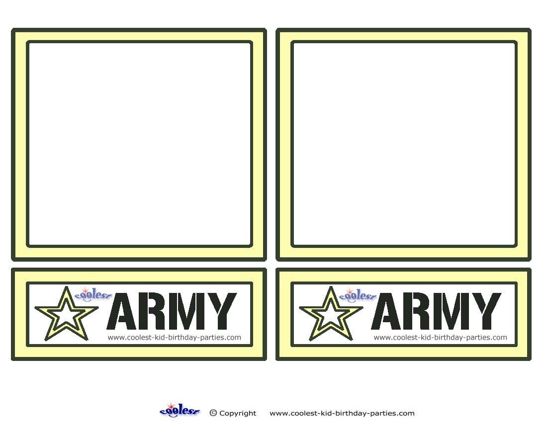 Free Printable Army Birthday Invitations Boys