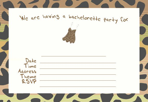 Printable Bachelorette Party Invitations