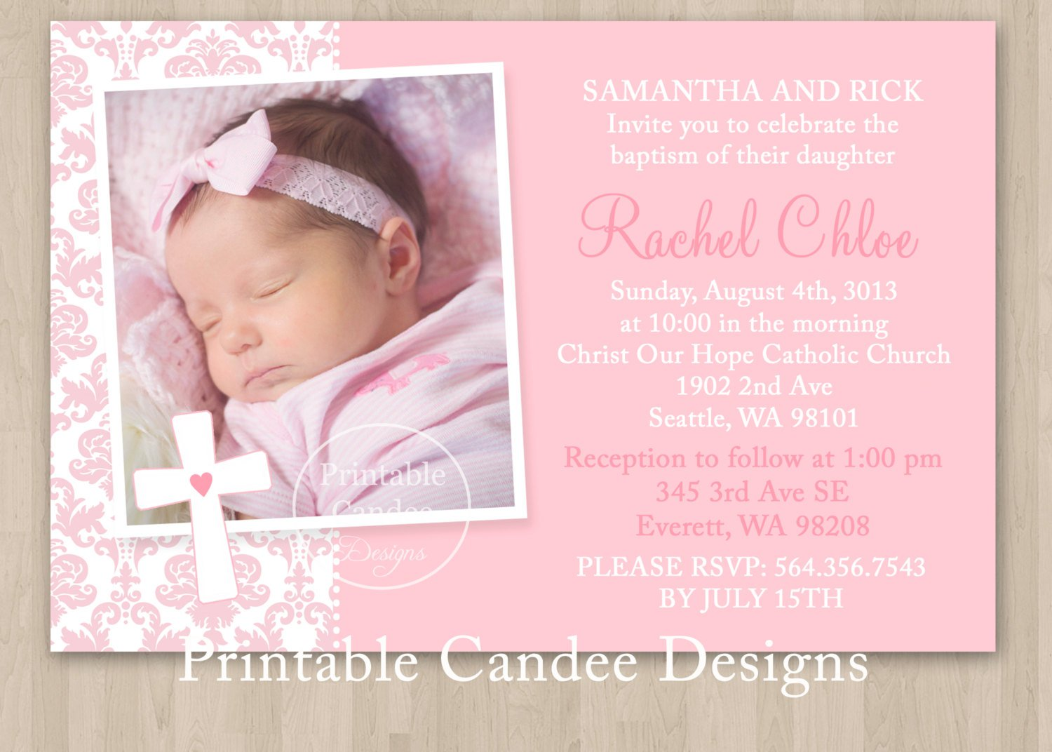 Sample Template Baptism Invitation | ctsfashion.com
