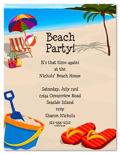 Free Printable Beach Wedding Invitations Templates 2016