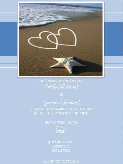 Free Printable Beach Wedding Invitations Templates 2018