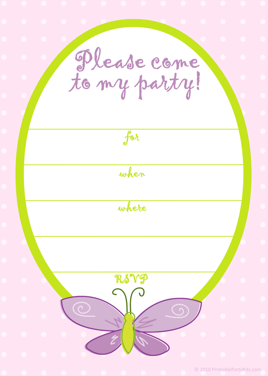 Free Printable Birthday Card Invitation Templates
