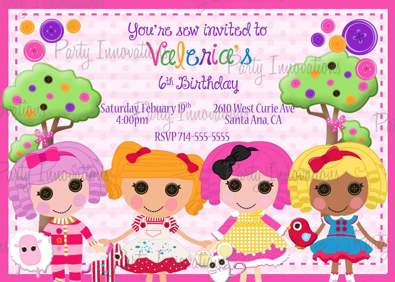 Free Printable Birthday Card Invitations For Girls