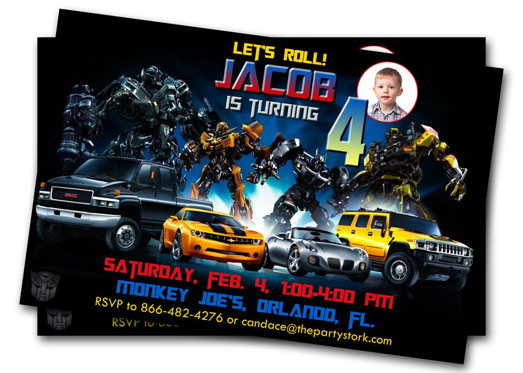 Free Printable Birthday Invitations For Boys Transformers