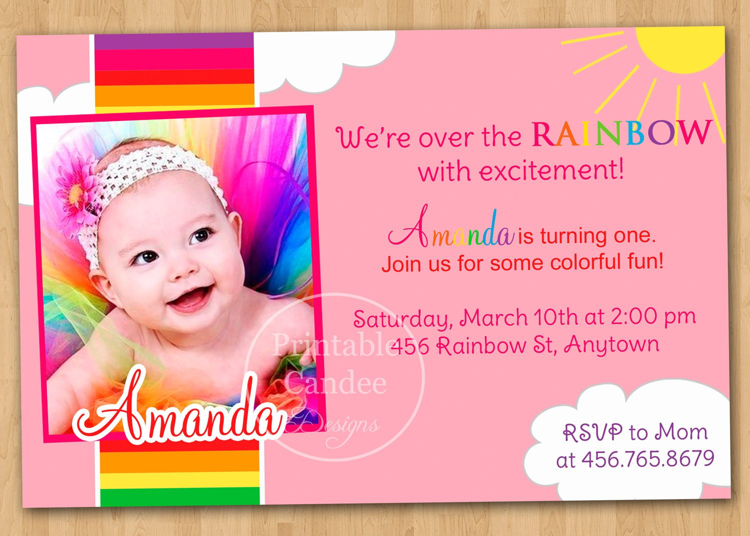 Free Printable Birthday Invitations For First Birthday