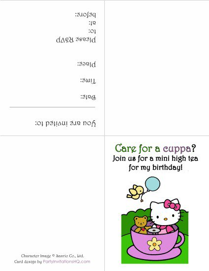 Free Printable Birthday Invitations Hello Kitty 2015