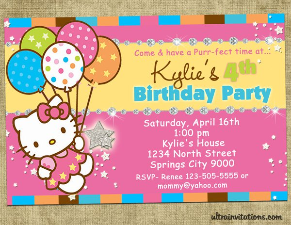 Free Printable Birthday Invitations Hello Kitty 2016