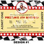 Free Printable Birthday Invitations Race Cars