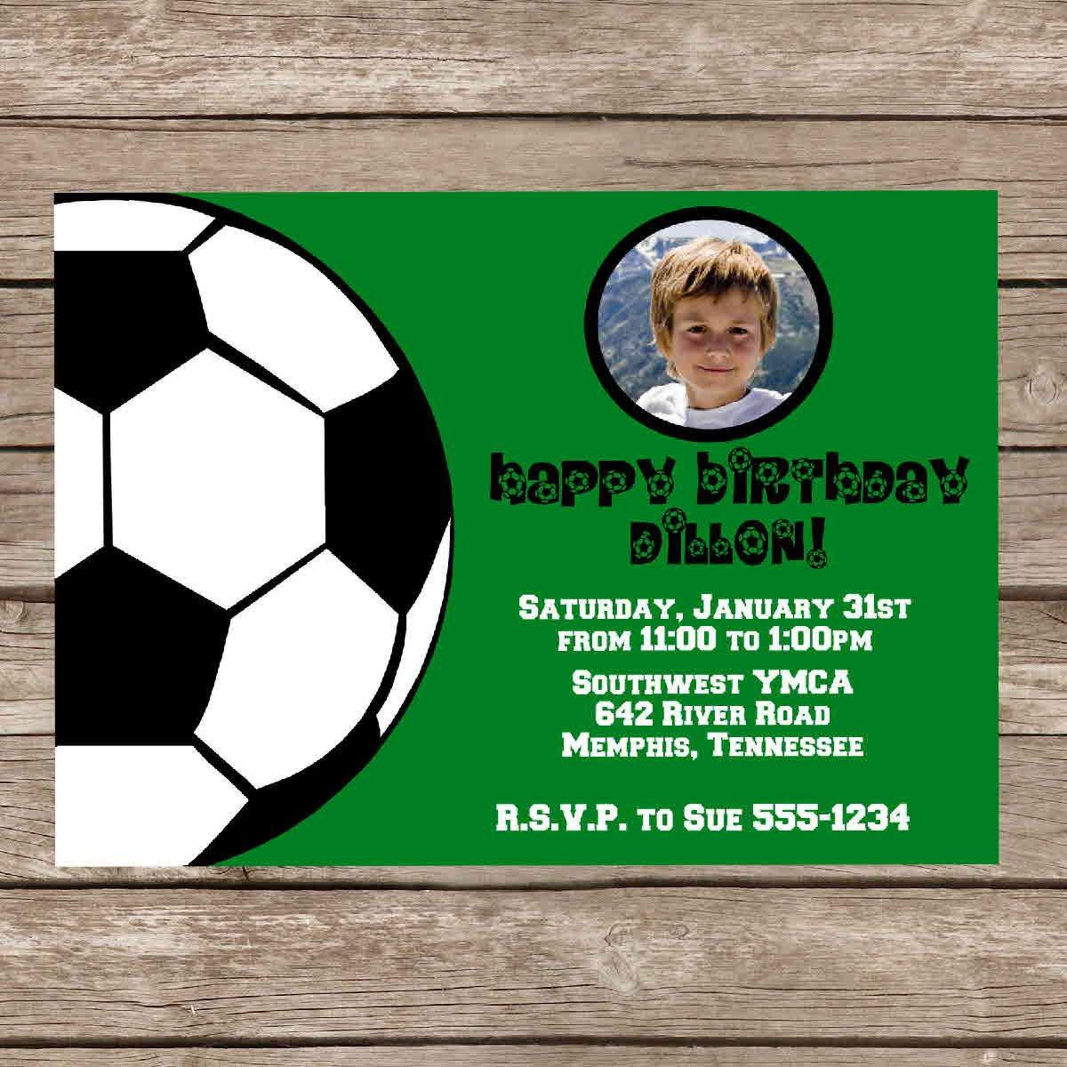 Free Printable Birthday Invitations Soccer