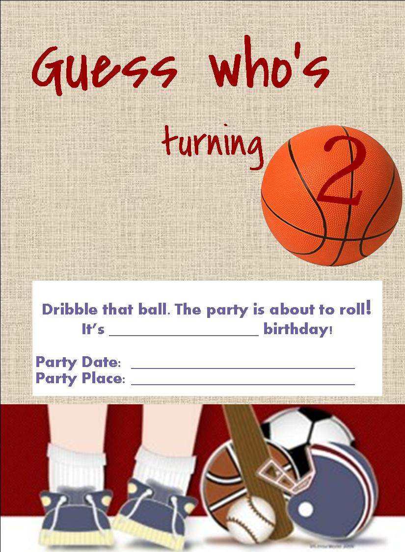 Printable Birthday Invitations Sports – Free Printable Sports Birthday Invitations