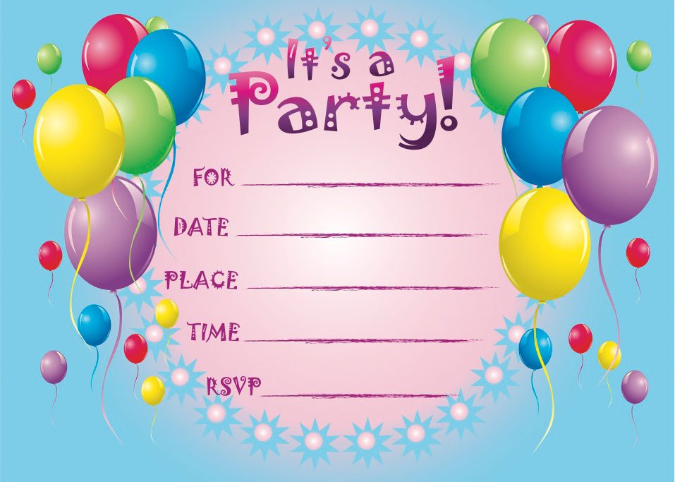 Free Printable Birthday Invitations Templates
