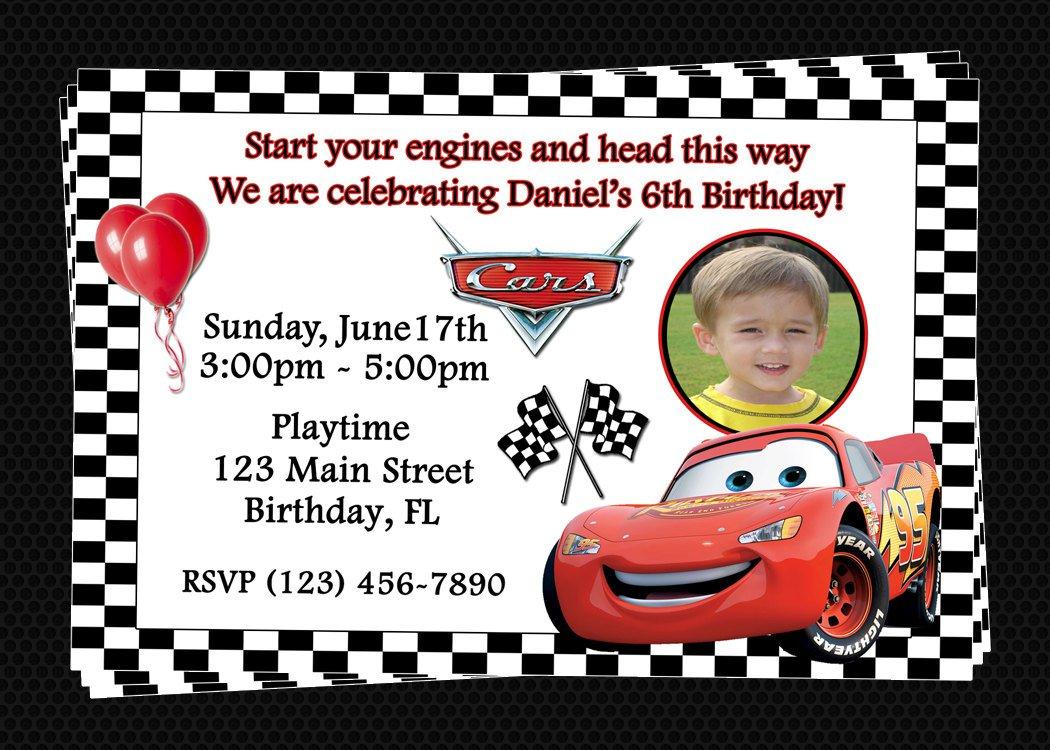 Free Printable Birthday Party Invitations Disney Cars