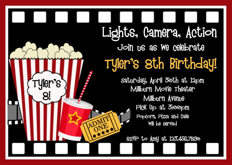 Free Printable Birthday Party Invitations Movie Theme