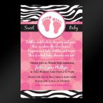 Free Printable Blue Zebra Baby Shower Invitations