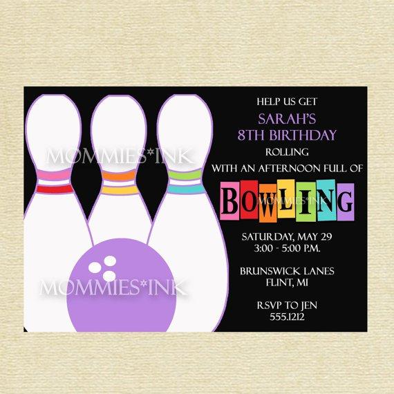 Free Printable Bowling Birthday Invitations 2015