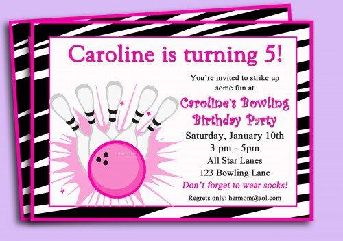 Free Printable Bowling Birthday Invitations For Kids 2015