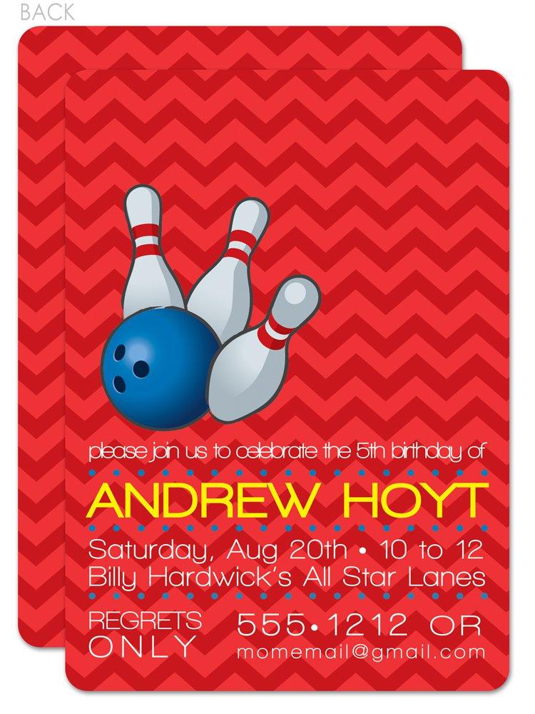 Free Printable Bowling Birthday Invitations For Kids 2016