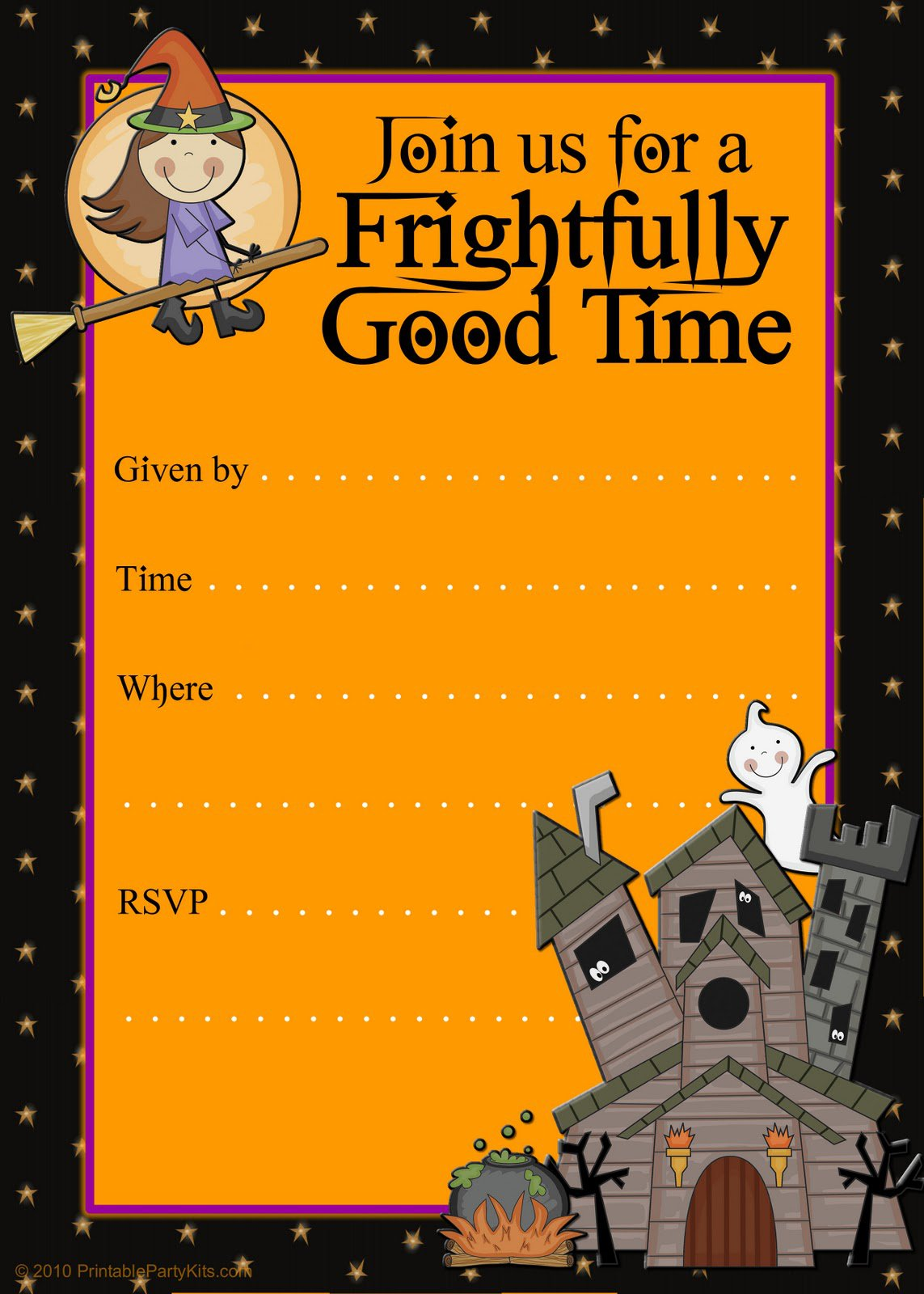Free Printable Childrens Halloween Party Invitations