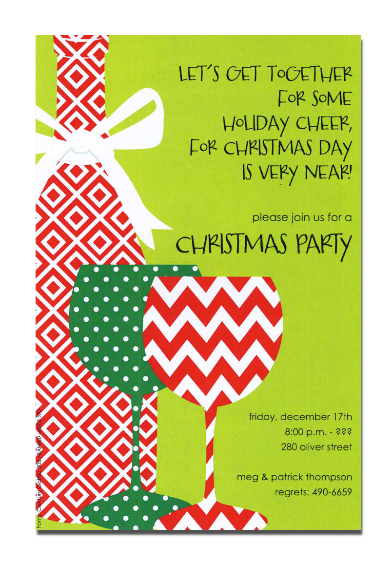 Free Printable Christmas Open House Invitation Templates