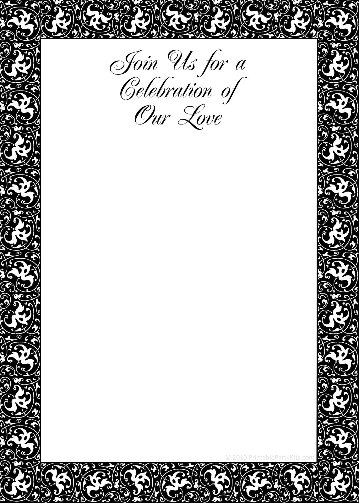Free Printable Christmas Wedding Invitations Templates