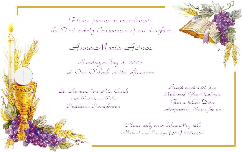 Free Printable Confirmation Invitations Cards 2015