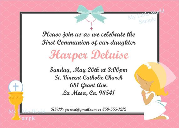 Free Printable Confirmation Invitations Cards 2017