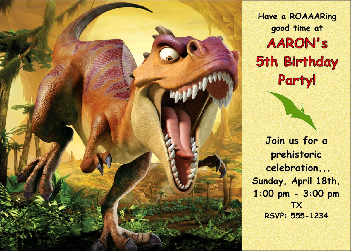 Free Printable Dinosaur Invitations - Free Custom Invitation Template Design | Verrado Drift