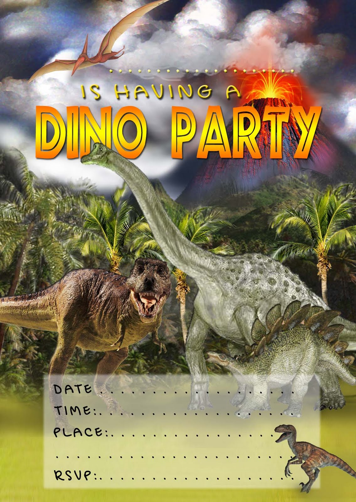 Free Printable Dinosaur Invitations For Kids