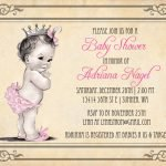 Free Printable Disney Princess Baby Shower Invitations