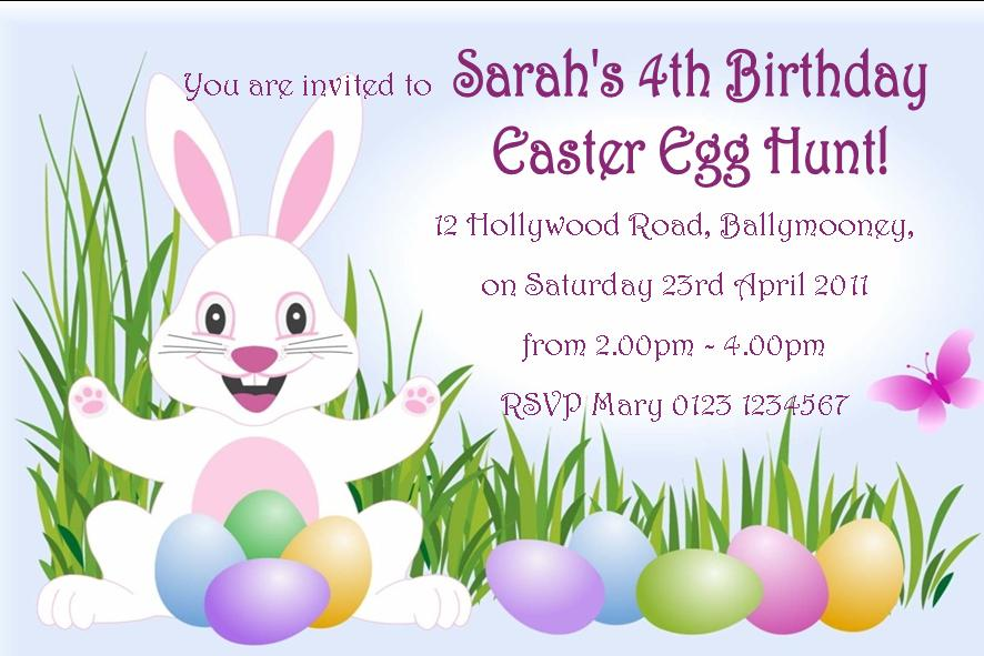 Free Printable Easter Birthday Invitations 2016