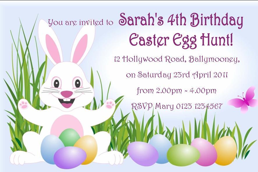Free Printable Easter Birthday Invitations 2016
