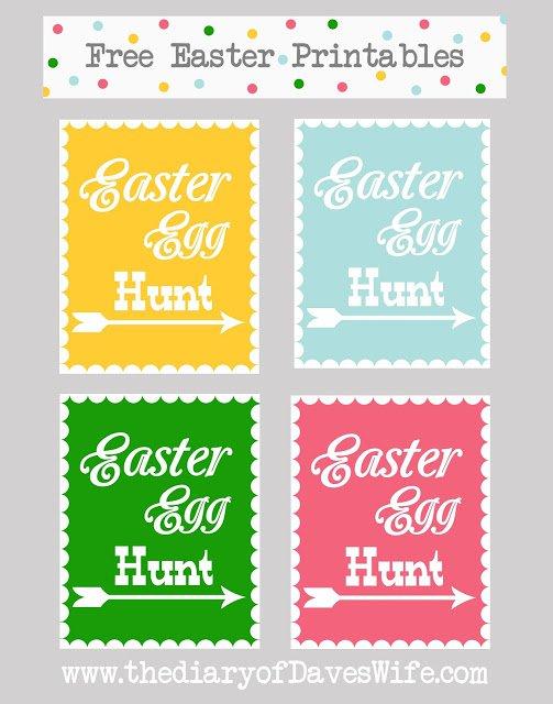 Free Printable Easter Egg Hunt Invitation Templates 2018