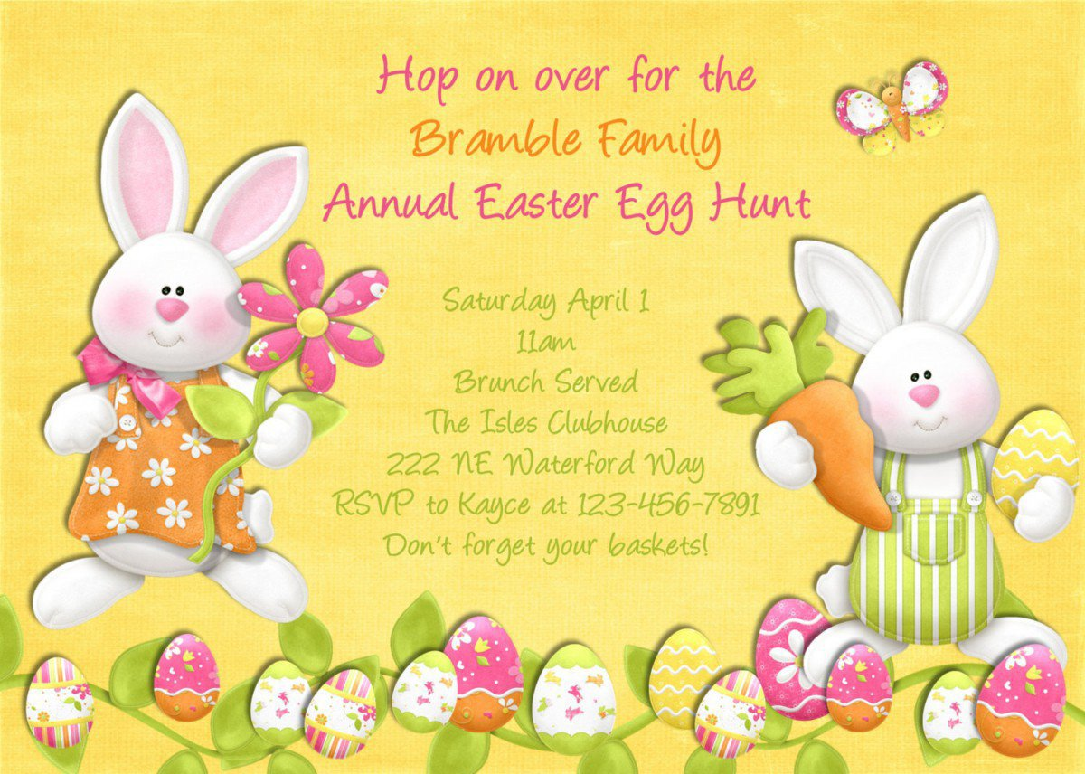 Free Printable Easter Invitation Templates 2015