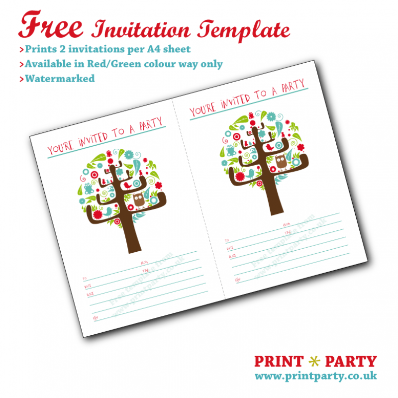 Free Printable Easter Party Invitations 2015