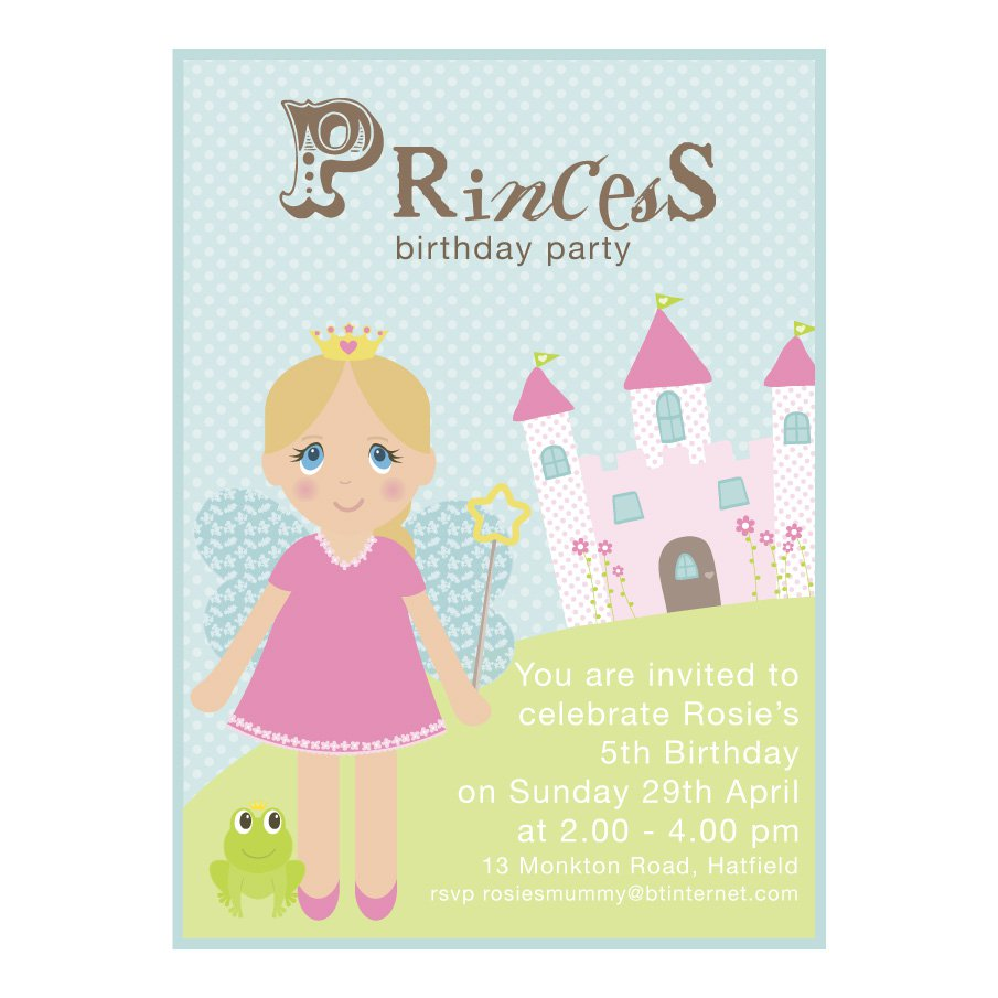 Free Printable Fairy Princess Party Invitations