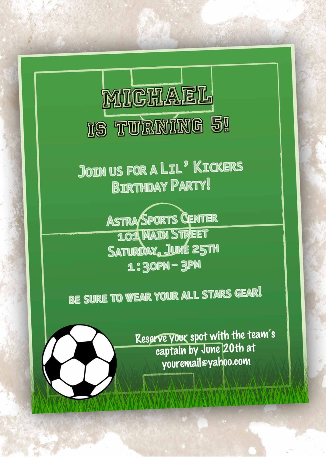 Printable Football Party Invitations For Boys – Football Party Invitation Template