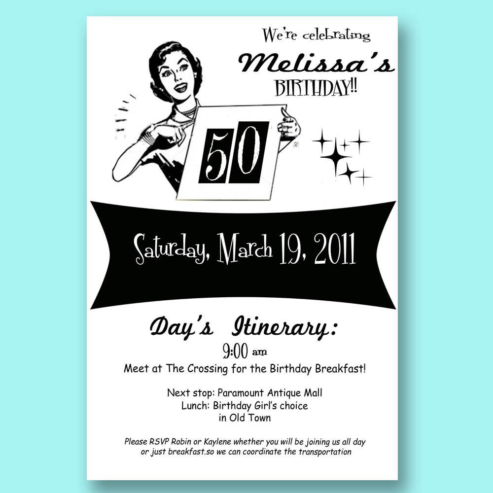 Vintage Milestone Birthday Invitations Your Photo Funny Birthday