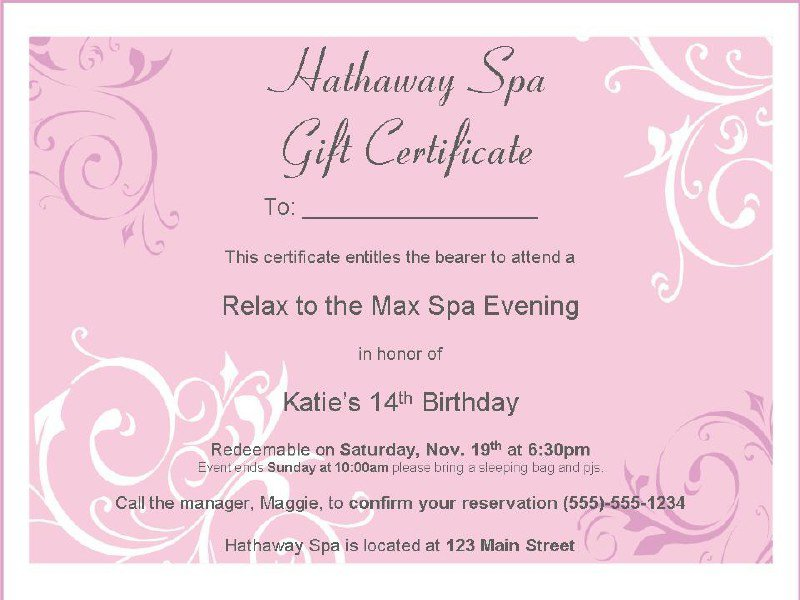 Free Printable Girls Spa Birthday Invitations 2016