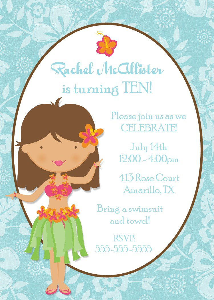 Free Printable Girls Spa Birthday Invitations