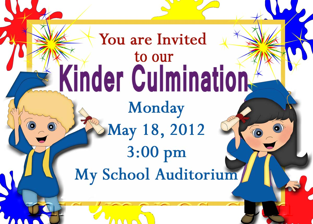 Free Printable Graduation Invitations For Kindergarten