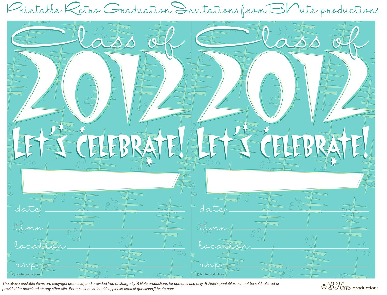 Free Printable Graduation Party Invitations 2012