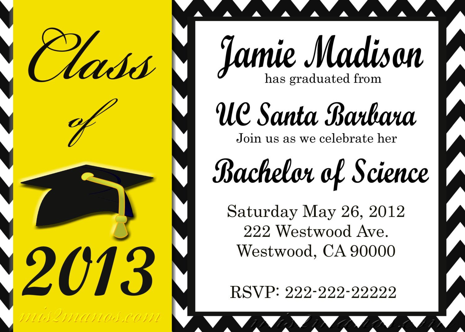 Printable Graduation Invitations 2013 Free – Printable Graduation Invitation Templates