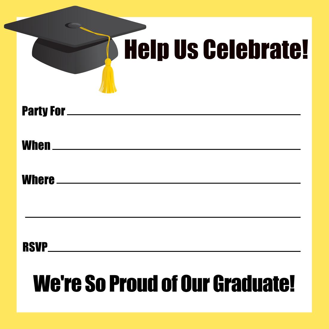 Free Printable Graduation Reception Invitations