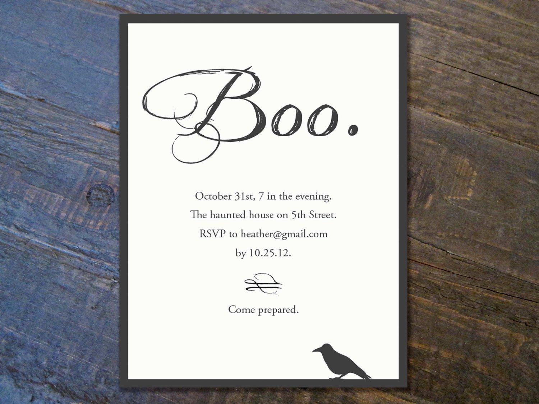 halloween templates invitation