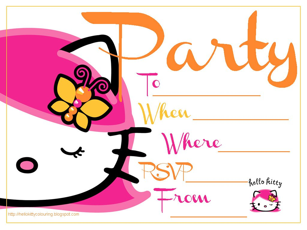 Free Printable Hello Kitty Sleepover Invitations
