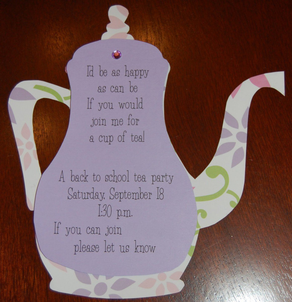 Free Printable High Tea Party Invitations 2015